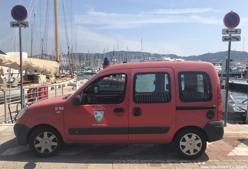 Véhicule de liaison, Sapeurs-pompiers, Alpes-Maritimes