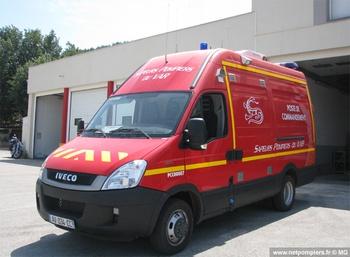 Véhicule poste de commandement, Sapeurs-pompiers, Var (83)