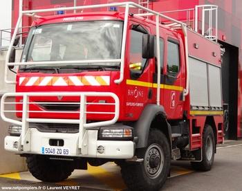 Fourgon-pompe tonne léger, Sapeurs-pompiers, Rhône