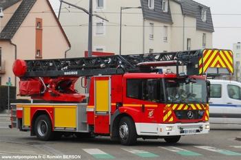 Echelle pivotante, Sapeurs-pompiers, Bas-Rhin (67)