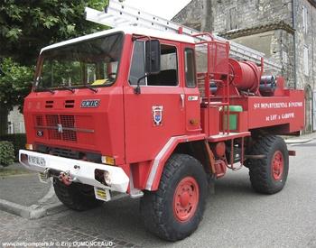 Camion-citerne pour feux de forêts, Sapeurs-pompiers, Lot-et-Garonne