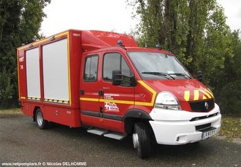 Véhicule pour interventions à risques technologiques, Sapeurs-pompiers, Haute-Savoie (74)