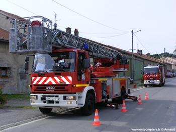 Echelle pivotante, Sapeurs-pompiers, Meuse (55)