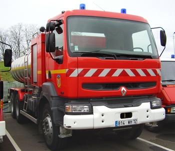 Camion-citerne de grande capacité, Sapeurs-pompiers, Sarthe (72)