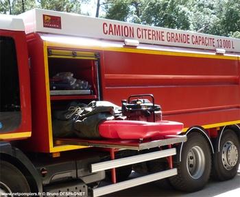 Camion-citerne de grande capacité, Sapeurs-pompiers, Vendée (85)