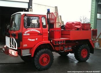 Camion-citerne pour feux de forêts, Sapeurs-pompiers, Haute-Vienne (87)