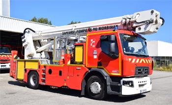 Camion bras élévateur articulé, Sapeurs-pompiers, Morbihan (56)