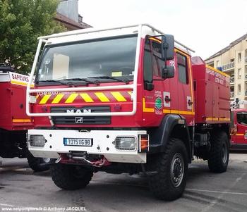 Camion-citerne pour feux de forêts, Sapeurs-pompiers, Vosges (88)