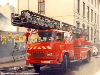 Echelle pivotante, Sapeurs-pompiers, Rhône (69)