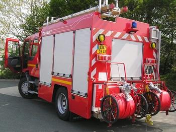 Fourgon-pompe tonne, Sapeurs-pompiers, Mayenne