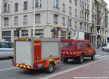 Remorque groupe électrogène dénoyage éclairage, Sapeurs-pompiers, Rhône (69)