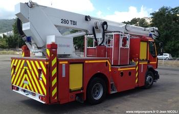 Camion bras élévateur articulé, Sapeurs-pompiers, Haute-Corse (2B)