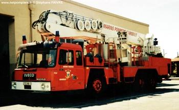 Camion bras élévateur articulé, Marins-pompiers de Marseille, Bouches-du-Rhône (13)