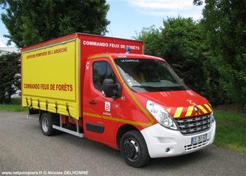 Véhicule commando feux de forêts, Sapeurs-pompiers, Ardèche (07)