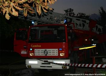 Echelle pivotante, Sapeurs-pompiers, Gironde (33)