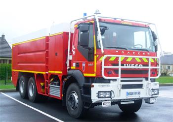 Véhicule mousse, Sapeurs-pompiers, Manche (50)