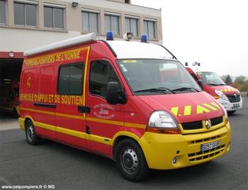 Véhicule d'appui, Sapeurs-pompiers, Yonne (89)