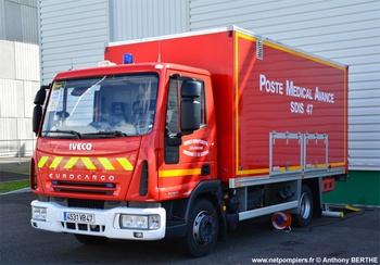 Véhicule poste médical avancé, Sapeurs-pompiers, Lot-et-Garonne (47)
