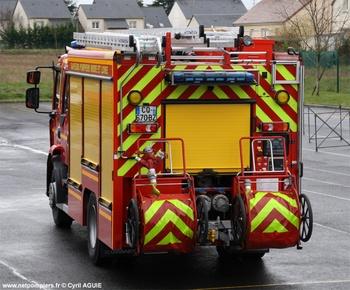 Fourgon-pompe tonne secours routier, Sapeurs-pompiers, Indre-et-Loire
