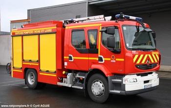 Fourgon-pompe tonne secours routier, Sapeurs-pompiers, Indre-et-Loire (37)