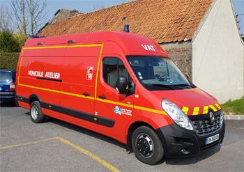 Véhicule d'assistance technique, Sapeurs-pompiers, Pas-de-Calais (62)