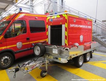 Remorque pompe de grande puissance, Sapeurs-pompiers, Isère (38)
