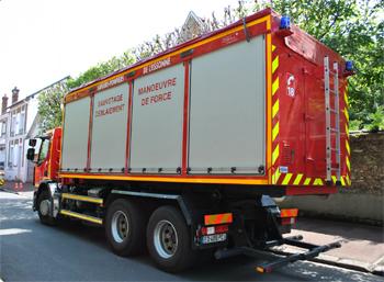 Véhicule porte-cellule, Sapeurs-pompiers, Essonne (91)