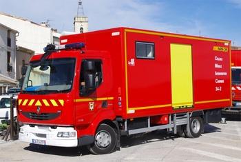 Véhicule de dépollution, Sapeurs-pompiers, Hérault (34)
