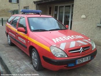 Véhicule radio médicalisé, Sapeurs-pompiers, Gard (30)