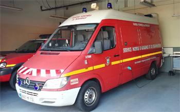Ambulance de réanimation, Marins-pompiers de Marseille, Bouches-du-Rhône (13)