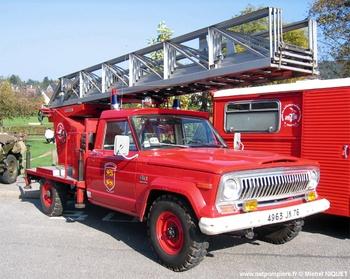 Echelle pivotante, Sapeurs-pompiers, Seine-Maritime (76)