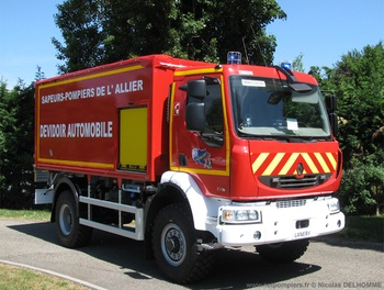 Dévidoir automobile, Sapeurs-pompiers, Allier (03)