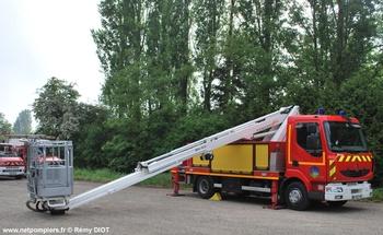 Camion bras élévateur articulé, Sapeurs-pompiers, Jura (39)