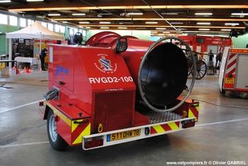 Remorque ventilateur grand débit, Sapeurs-pompiers, Yvelines (78)