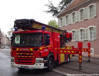 Camion bras élévateur articulé, Sapeurs-pompiers, Haut-Rhin (68)