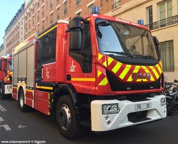 Fourgon d'appui, Sapeurs-pompiers de Paris,  ()