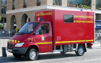 Véhicule de secours nautique, Marins-pompiers de Marseille, Bouches-du-Rhône (13)