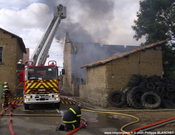 Echelle pivotante, Sapeurs-pompiers, Isère (38)