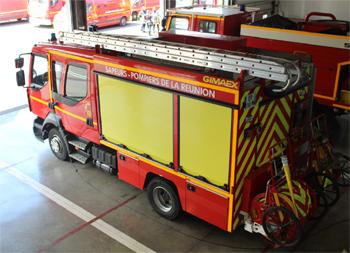 Fourgon-pompe tonne léger, Sapeurs-pompiers, La-Réunion (974)