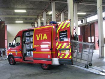 Véhicule de secours animalier, Sapeurs-pompiers, Sarthe (72)