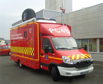 Véhicule poste de commandement, Sapeurs-pompiers, Loiret