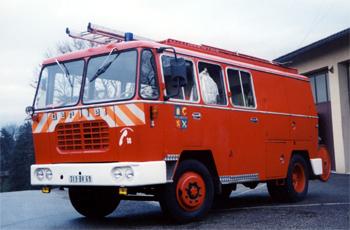 Fourgon mixte, Sapeurs-pompiers, Rhône