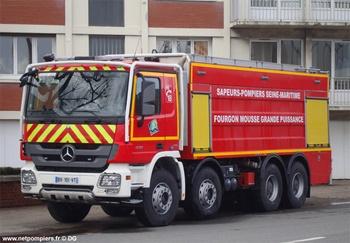 Véhicule mousse, Sapeurs-pompiers, Seine-Maritime (76)