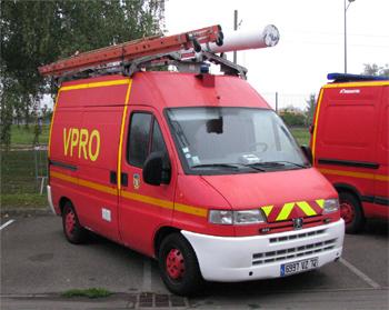 Véhicule de protection, Sapeurs-pompiers, Sarthe (72)