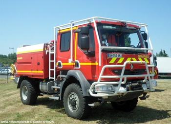 Camion-citerne pour feux de forêts, Sapeurs-pompiers, Cher (18)