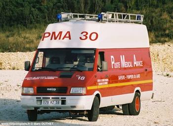 Véhicule poste médical avancé, Sapeurs-pompiers, Gard (30)