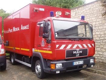 Véhicule poste médical avancé, Sapeurs-pompiers, Yvelines