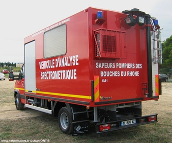 Véhicule laboratoire de spectrométrie, Sapeurs-pompiers, Bouches-du-Rhône (13)