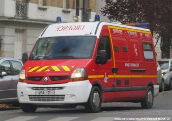 Véhicule risque animalier, Sapeurs-pompiers de Paris,  ()
