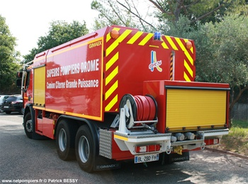 Camion-citerne de grande capacité, Sapeurs-pompiers, Drôme (26)